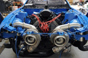 MMR, twin turbocharged GT500 V8 engine, from Mustangs Daily [3].