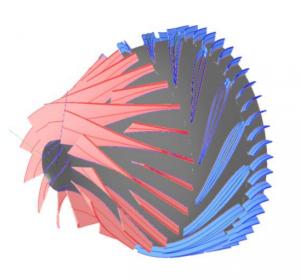 Figure 1 - Mixed Flow Compressor Arrangement in AxSTREAM