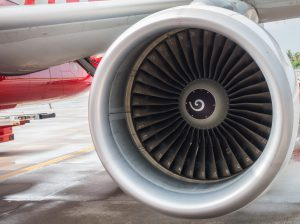 Turbine engine of airplane