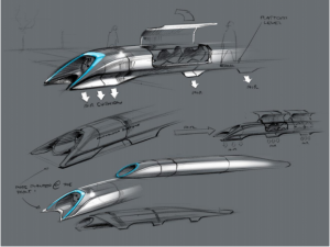 Hyperloop Alpha Conceptual Design Sketch