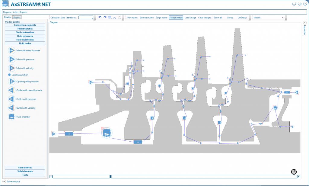 Turbine Cooling Scheme Designed in AxSTREAM NET