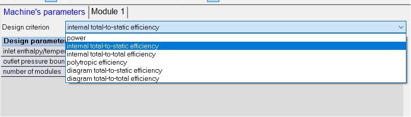 Figure 1 - Design Criteria Options in AxSTREAM Preliminary Design