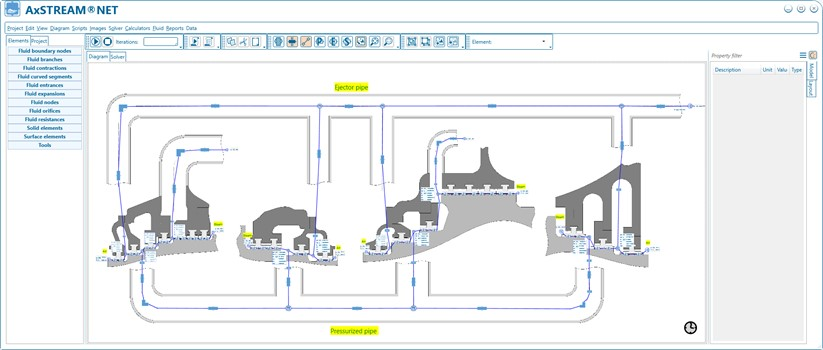 Steam Turbine Seal Leakage Calculation with AxSTREAM NET