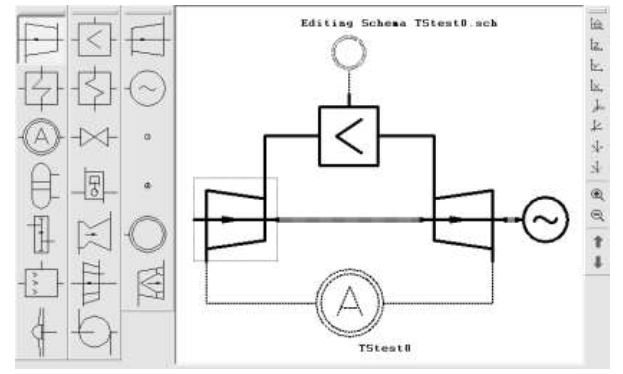 Figure 2.18 Thermal schemes graphical interactive editor window.