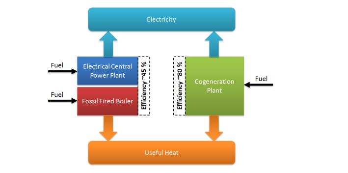 Figure 1 - CHP Process Flow Diagram