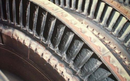 Figure 5 Deposits on Rotating Blades