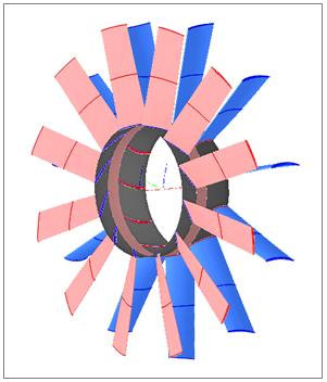 Figure 8 - Fan Designed Using AxSTREAM