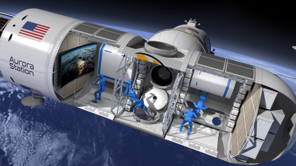 Figure 1 - The art image of the Aurora Space Hotel