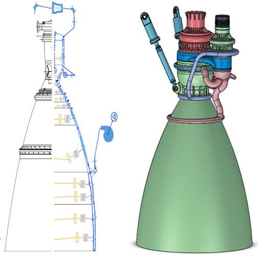 Rocket Nozzle Modeling in AxSTREAM NET