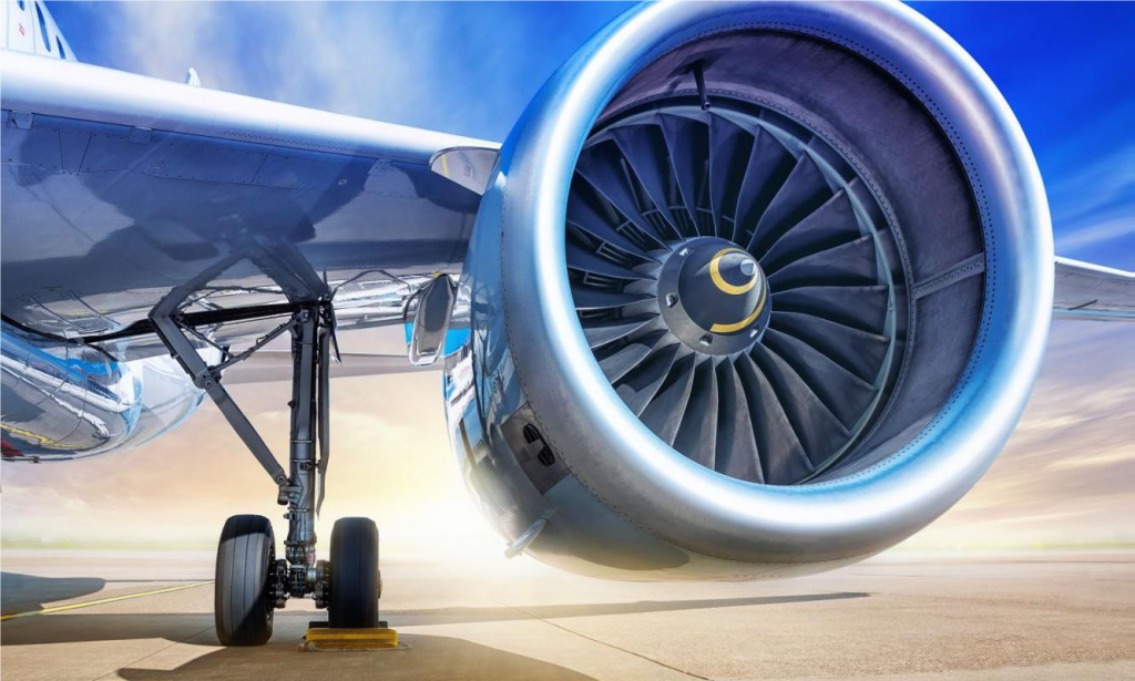 Figure 3: A commercial airliner's turbofan engine the common image that is conjured when one thinks of turbines in transportation