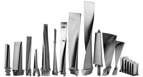 Examples of Steam Turbine Blade Designs