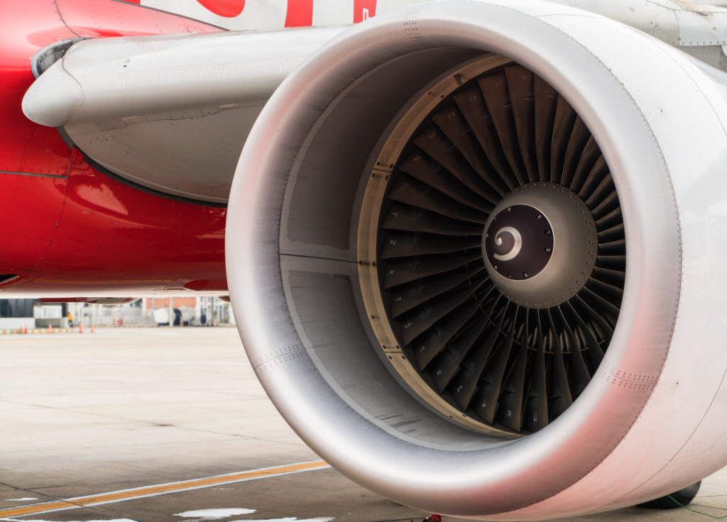 Engine of airplane