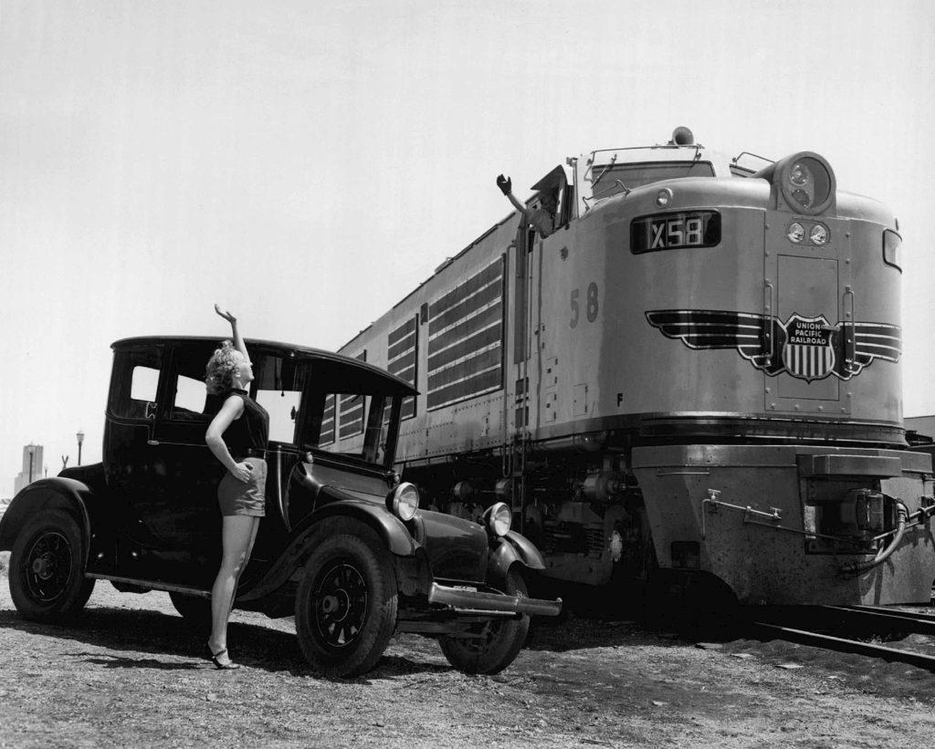 A Union Pacific Gas Turbine Locomotive in 1953