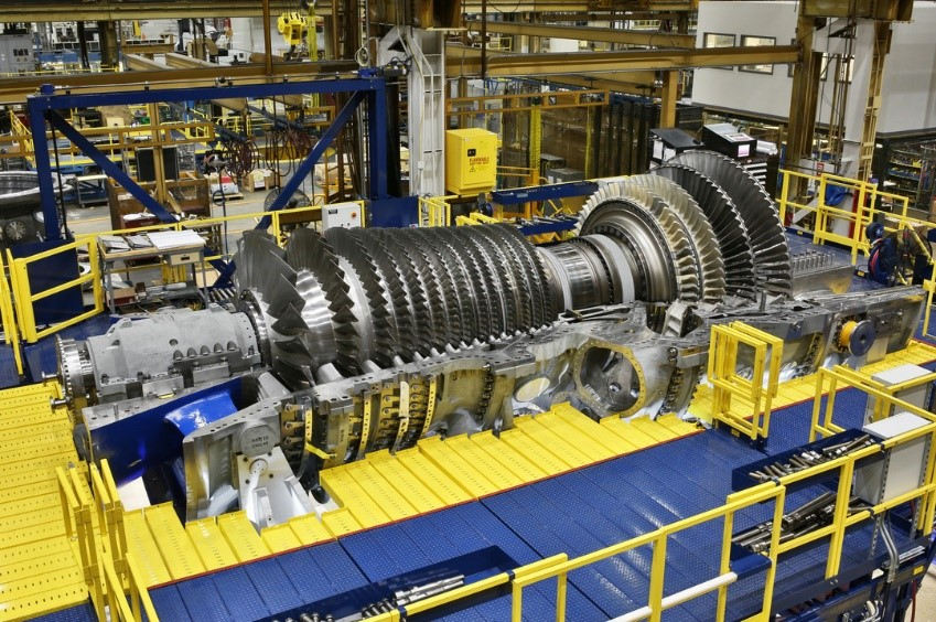 Industrial gas turbine for power generation.