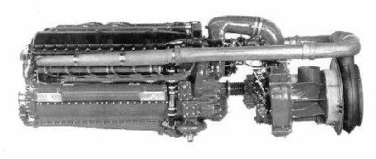 The Allison 1710 V12 Engine with a turbocharger at the rear. Image courtesy of Jim Leonard.