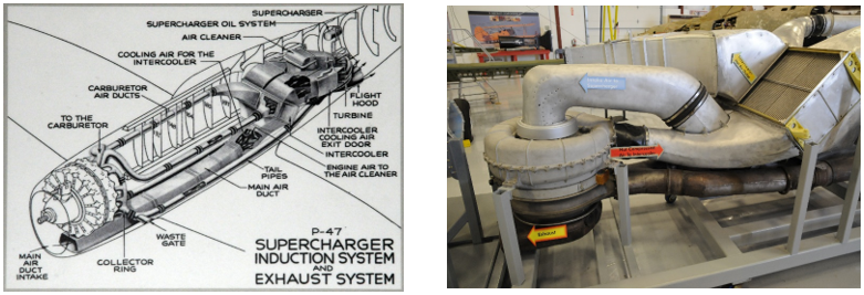 The Ductwork of a P47s engine and turbocharger system