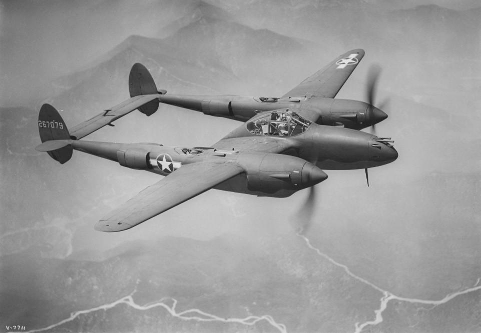 The Famous Lockheed P38 Lightning, image courtesy of Lockheed Martin