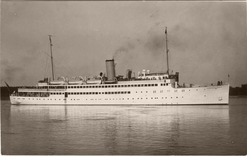 The Hansestadt Danzig, one of the German ships fitted with the 10 cylinder turbodiesel engine described above