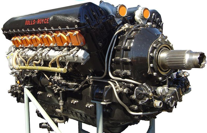 The famed Rolls-Royce Merlin V12, which powered the Spitfire