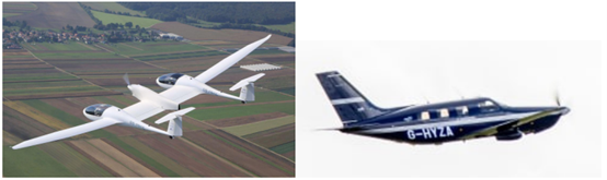Small-sized aircraft with electric motors