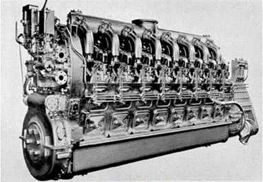 Figure 1. GM V16-278A, Submarine Diesel Engine. SOURCE: [1]