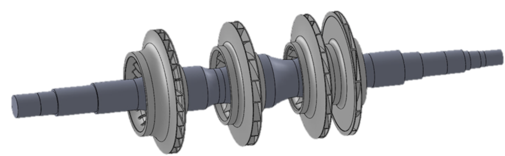Fig. 1 - 4 Stage Compressor Rotor
