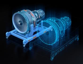 Figure 3 A Digital Twin of a Gas Turbine Engine