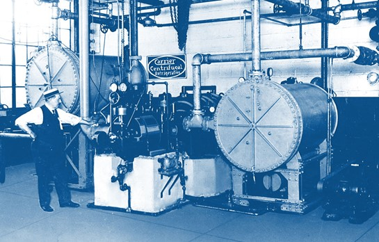 The famed picture of the Carrier Centrifugal Chiller